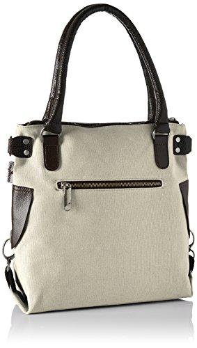 Mini Borsa A Tracolla Mini Bag4less Da Donna, 32x34x44 Cm Beige (crema)