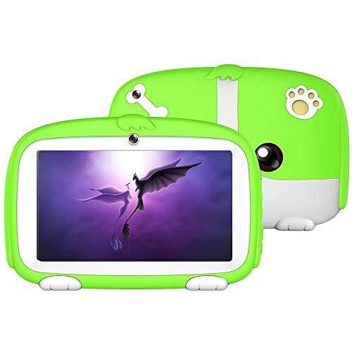 Womdee Tablet per Bambini, Smart Tablet Edizione per Bambini 7' HD Display, 8G + 32G per Bambini Supporto per l'apprendimento e Il Gioco Facebook, Youtube, Twitter (Verde)