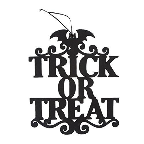 Kofun hängendes Zeichen-Halloween-hängender nichtgewebter Süßes sonst gibt's Saures Tür-Aufhänger-Zeichen-Dekoration-Handwerk