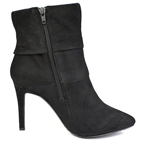"""SPM Century Chaussures Femmes Talon aiguille 17816158 rouge ou noir Bottines Look """"usé"""" Noir"""