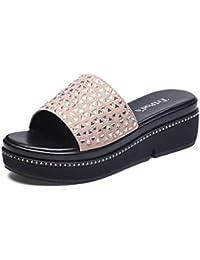 Wedges Sandalen und Hausschuhe Damen Sandalen und Hausschuhe Sommermode Wild tragen weiszlig;e rutschfeste Sandalen...