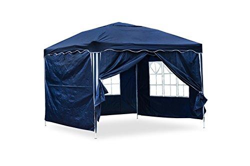 127116 Gartenpavillon Falt-Pavillon, 3 x 3 m, blau