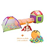 Wellhome Tente de Jeu Pliable pour Enfants avec Tunnel Jouer Tente avec Sac et 200...