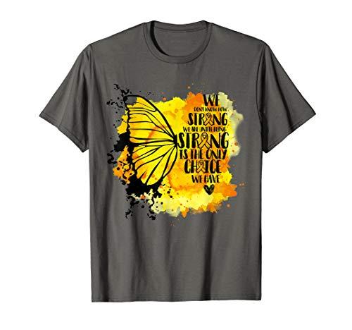 Childhood Cancer Awareness Butterfly T-shirt -