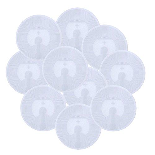 10 Stück NFC Tag Sticker-Aufkleber von NFC Guru - NTAG215 - kompatibel mit amiibo Figuren - 25mm, rund, weiß