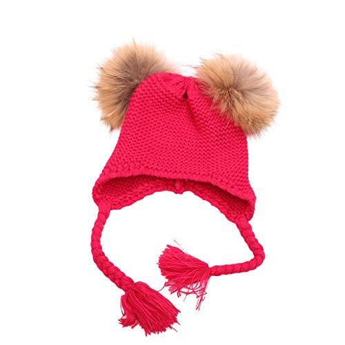 URSING Baby Strickmütze Wintermütze Beanie Mütze mit Ohrenklappen -