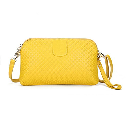 Eysee, Poschette giorno donna Rosso marrone 25cm*14.5cm*2cm giallo