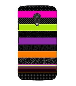 PrintVisa Designer Back Case Cover for Motorola Moto G2 :: Motorola Moto G (2nd Gen) (Multicoloured Stripped Pattern)