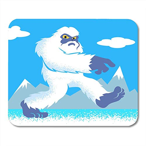 Luancrop Mauspad Bigfoot Cartoon Yeti Yetti abscheuliche Bestie Zeichnung Charakter Clipart Mousepad für Notebooks, Desktop-Computer Mauspads, Büromaterial (Bigfoot-cartoon)