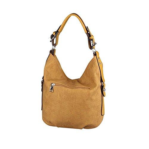 OBC Only-Beautiful-Couture, Borsa tote donna Verde Khaki 35x29x10 cm ca.: 35x29x10 cm (BxHxT) cognac