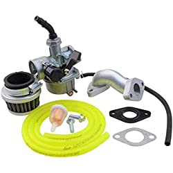 GOOFIT PZ19 Carburateur avec filtre à air Carburateur Rebuild Kit pour XR CRF 50cc 70cc 90cc 110cc 125cc Mobylette ATV POLARIS Taotao Sunl Roketa Baja Kazuma Jaune