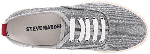 Steve Madden Babe, baskets sportives femme métallisé (Silver)