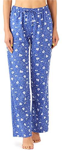 Merry Style Damen Schlafanzugshose MPP-001 (Blaue Boote, XXL)