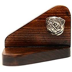 Candelabro de madera con pug, de edición limitada, ArtDog