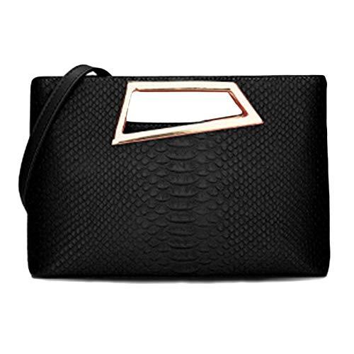 Frauen PU-Leder Handtasche Tote Hobos Umhängetasche Top-Griff Taschen Cross-Body Taschen Handtaschen Schultertaschen Büro,Black-31 * 9.5 * 19.5cm