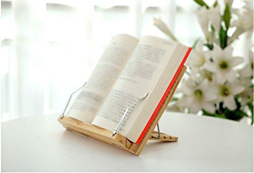 Librero Soporte de libro 26,5 * 36,5 Cm Marco de lectura de madera maciza Madera maciza