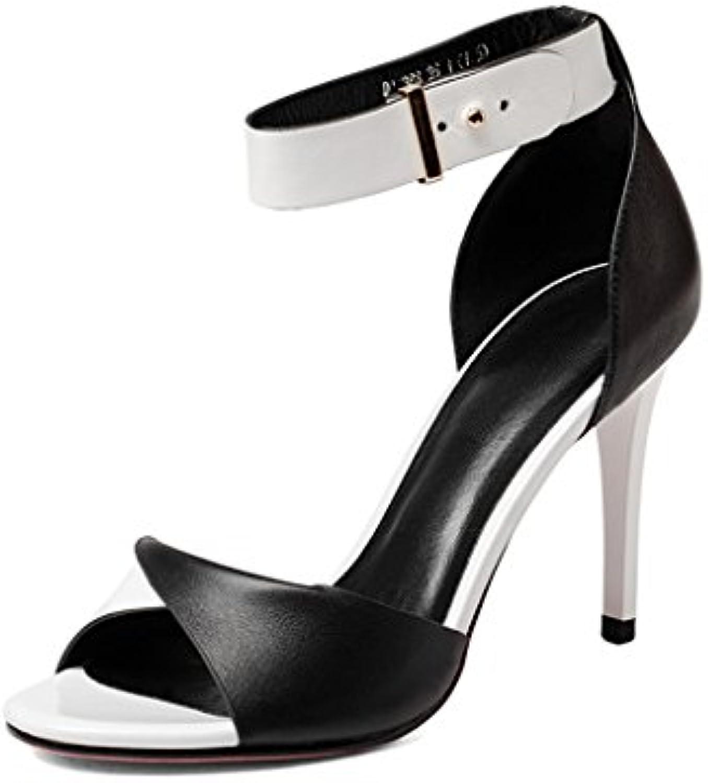 YMFIE Moda Sexy Verano Cómodo Punta Abierta Sandalias de Tacón Alto para Mujer Zapatos al Aire Libre Zapatos de... -