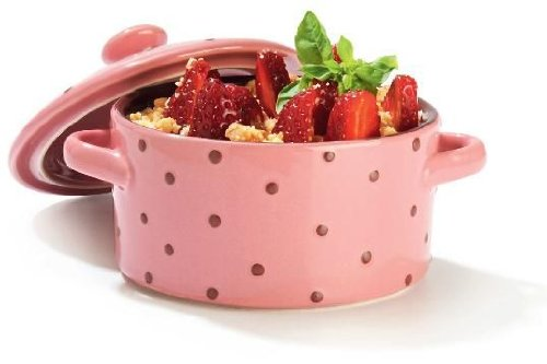 G�n�rique Mini casseruola, ceramica, diametro 10 cm, colore: Rosa