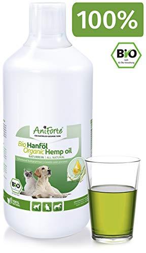 AniForte kaltgepresstes Bio Hanföl 1 Liter - Naturprodukt für Hunde, Katzen und Pferde, 100{1f54e633a2b476e9a8069fca919f072ee3d1a62c4f58c0fbda8aa78ef551b05c} rein, Ohne Zusätze, Ideale Barf Ergänzung