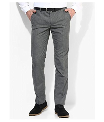 Inspire Light Grey Slim Fit Formal Trouser (32)