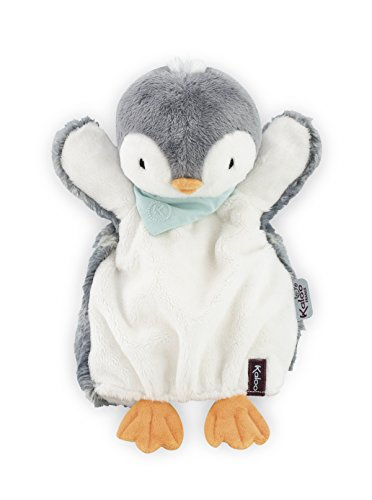 Kaloo - Serie Amiguitos, Pañuelo peluche tipo títere, modelo pingüino Pépit', 30 cm (Juratoys K969295)