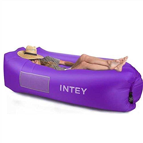 INTEY Aufblasbares Liege Sofa,Wasserdichtes Luft Sofa Couch mit dem kreativen Kissen und...