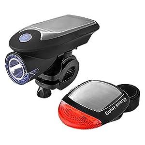 2019 Neueste USB Solar Fahrrad LED Set, USB wiederaufladbare Fahrrad Rücklicht, IP64 Wasserdicht, Geeignet zum Fischen, Jagen, Patrouillieren, Selbstverteidigen, Reiten