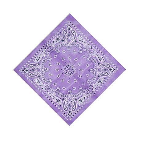 VRTUR Bandana Kopftuch Halstuch Nickituch Biker Tuch Motorad Tuch verschied Farben Paisley Muster als Halstuch, Taschen, Hunde und Mode-Accessoires 100% Baumwolle(Einheitsgröße,W)