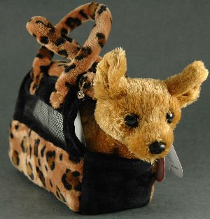 Aurora Fancy Pals - Perro chihuahua de peluche con bolso de transporte de Aurora