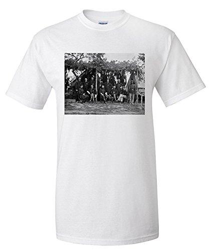 petersburg-va-gen-ferrero-and-staff-civil-war-photograph-premium-t-shirt