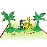 JSGJHK 3D Stereo Grußkarte Junge Geschenk Segen Mid-Autumn Festival Dinosaurier Tierkarte Student Day Geschenk, Pet Paradise 15 cm * 10 cm
