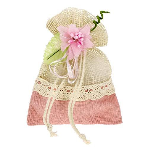 6acde48b1780 Bomboniere Fai da Te Kit bomboniere Rosa Completo di Sacchetti e  Decorazioni Confezione da 20 Pezzi