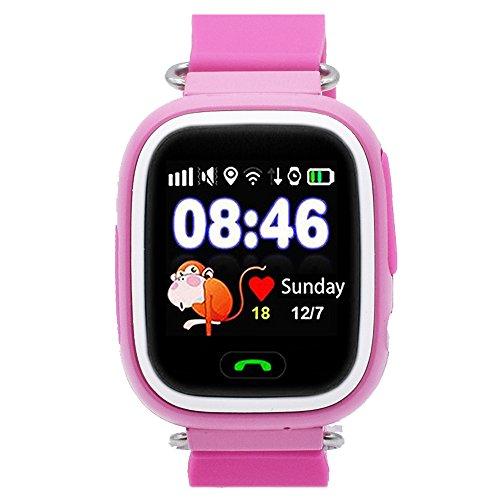 Reloj Inteligente para Niños con GPS, Smartwatch para Niño con Rastreador GPS y Soporte SIM GSM con Pantalla Táctil, Llamadas de Emergencia, Rastreador de Actividad de Chat para Niños y Niñas