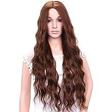 veryeah Historial de mujeres de color de larga rizado peluca sintético wellenförmiges rizado pelo hitzebeständige rojos