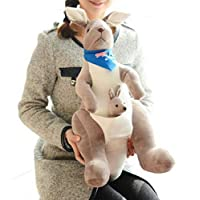 Bigood 2pcs Cartoon Parent-child Soft Vivid Kangaroo Plush Doll Toys Set