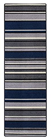 Andiamo 1100485 Plano Läufer mit Streifen Teppich, Polypropylen, Beige - Grau, 133 x 65 x 0.5 cm