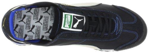 Puma - Mens Roma Slim Nylon Shoes  UK  10 UK  Black-White Swan-Sno