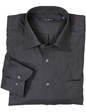 Dunkelgraues Hemd von Casamoda in Übergrößen bis 7XL