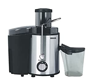 Inalsa Juice It Neo 500-Watt Juicer with Pulp Collector (Black/Silver)