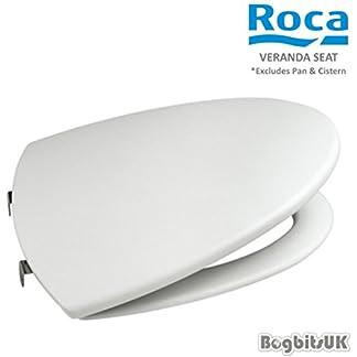 Roca A801442004 – Asiento Amortiguado Veranda Blanco Complementos Del Baño – Asiento/Tapa – Asientos Lacados Para Inodoro