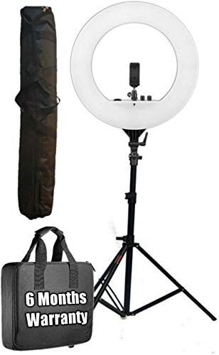 Octova Ring Light 18 inch with Stand; 55W 5500K Dimmable LED Kit AC Powered; Ring Light with Stand,For Camera; Smartphone;YouTube;Self Portrait Shooting; Tiktok; Musically; Makeup; Product Photography