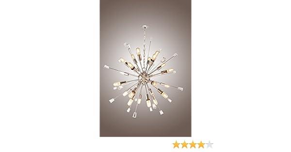 Mid Century Italian Starburst CHANDELIER 24 Light Edison Bulb Sparkling Sputnik DecoMust DM24