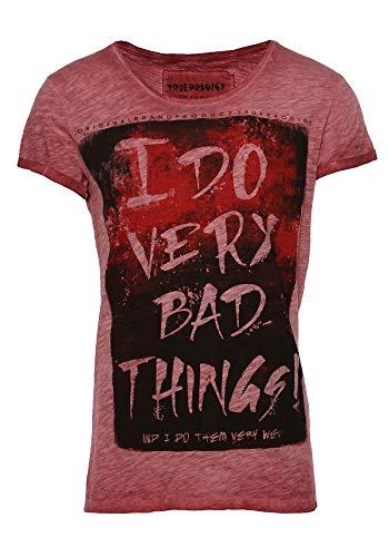 trueprodigy Casual Herren Marken T-Shirt mit Aufdruck, Oberteil cool und stylisch mit Rundhals Ausschnitt (Kurzarm & Slim Fit), Shirt für Männer Bedruckt Farbe: Rot 1063132-1550-XL - Männer Top Lustig Tank