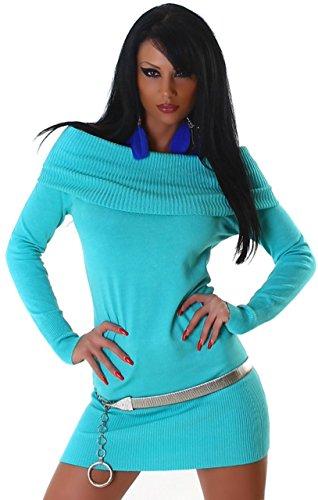 Jela london & pull en tricot pour femme taille unique (34–40) Turquoise - Turquoise
