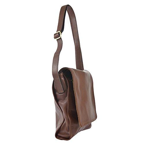 CTM Sac d'épaule de la femme dans le sac en cuir véritable made in Italy 23x30x7 Cm