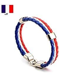 Naisidier Bracelet Sport Football Fan Bracelet Cheerleading Bracelet Durable Femme Homme Non-toxique RUSIA FIFA WORLD CUP 2018 Drapeau Français