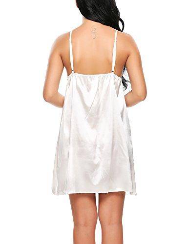 Avidlove Nachthemd Sexy Nachtwäsche Damen Satin Nachtkleid Spitze ...
