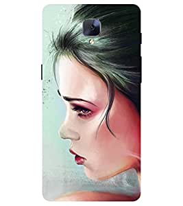Chiraiyaa Designer Printed Premium Back Cover Case for One Plus 3 (women painting) (Multicolor)