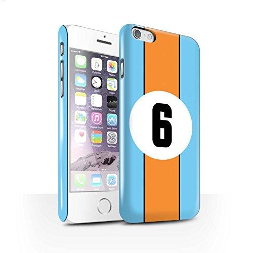 STUFF4 Glanz Snap-On Hülle / Case für Apple iPhone 7 Plus / Jaguar/Grün Muster / Rennwagen Streifen Kollektion Gulf/Blau