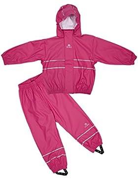 Elka - Tuta anti-pioggia per bambini, colore: rosa 80